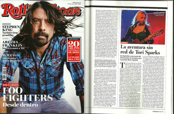 Rolling Stone Magazine Spain Tori Sparks Pg 37