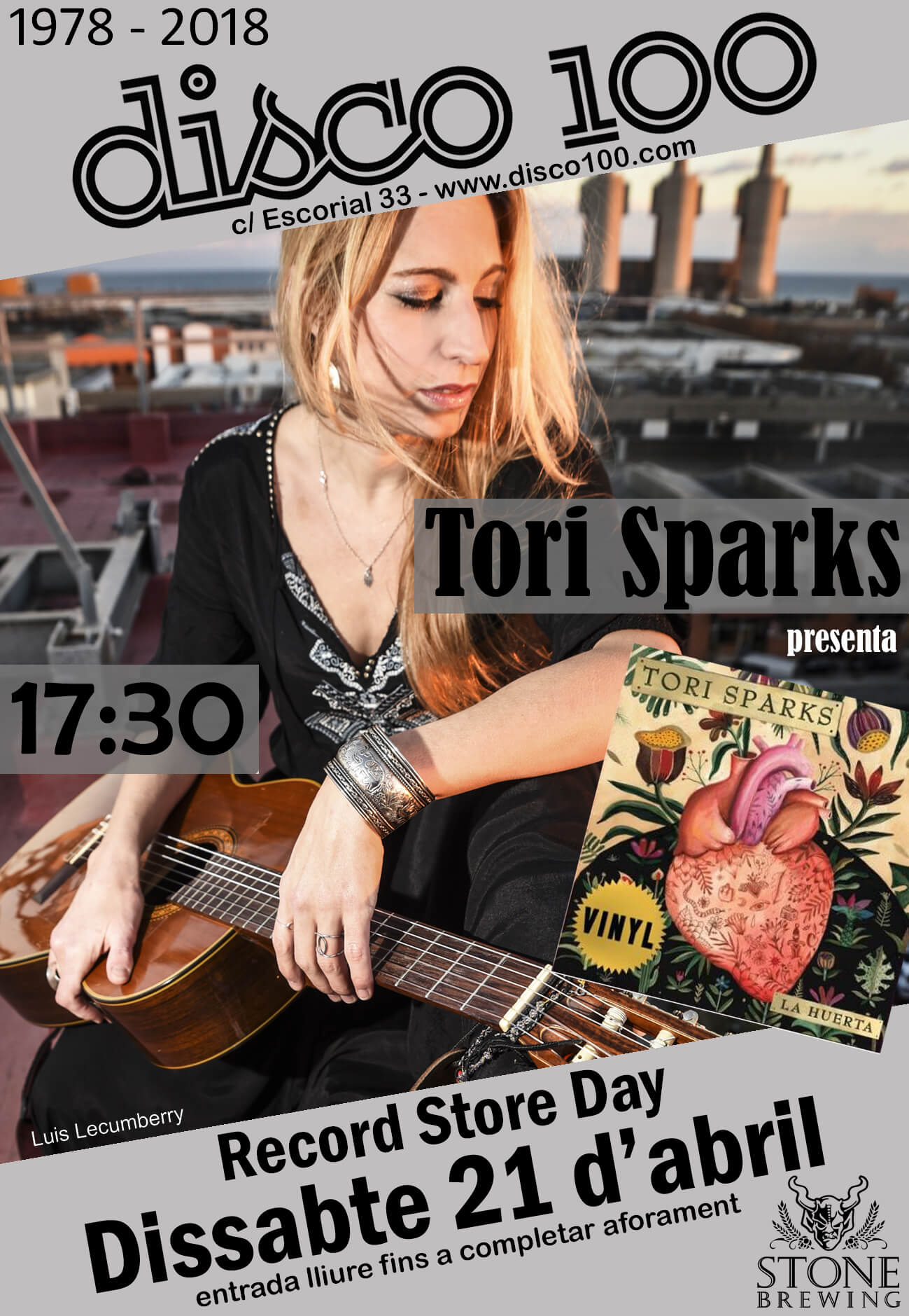 Tori Sparks Disco 100 Record Store Day 2018