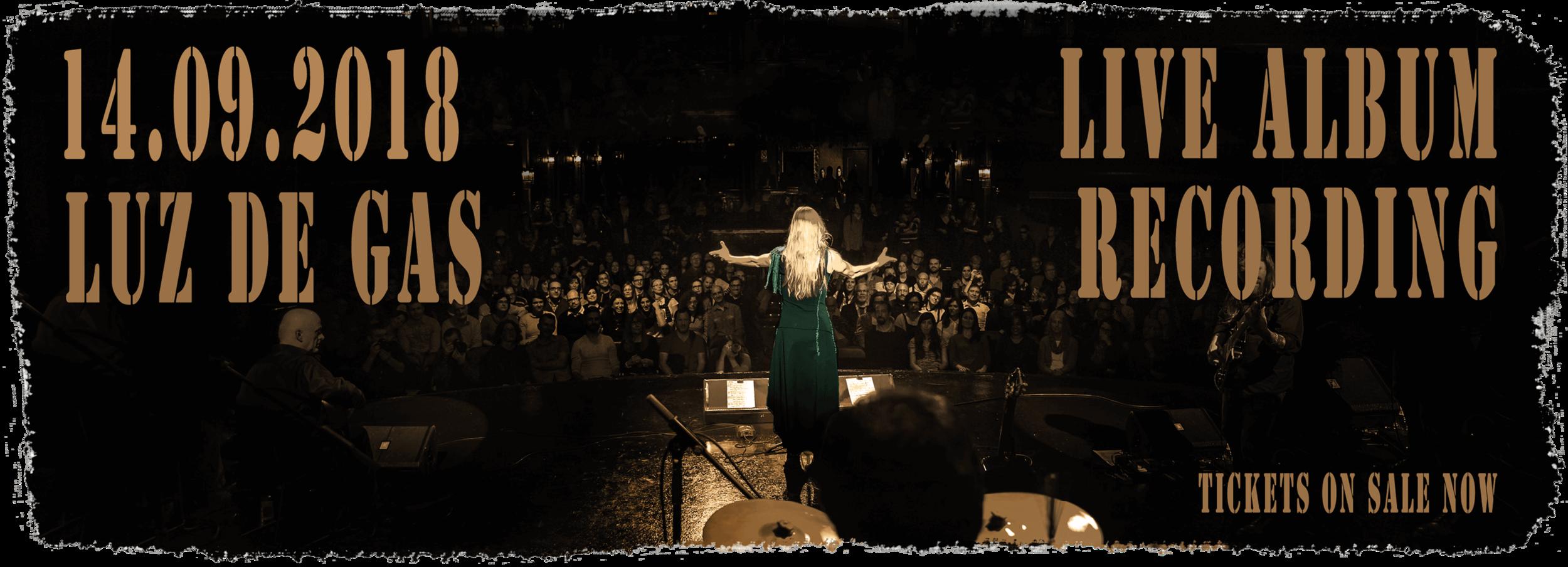 Tori Sparks Luz de Gas Live Recording