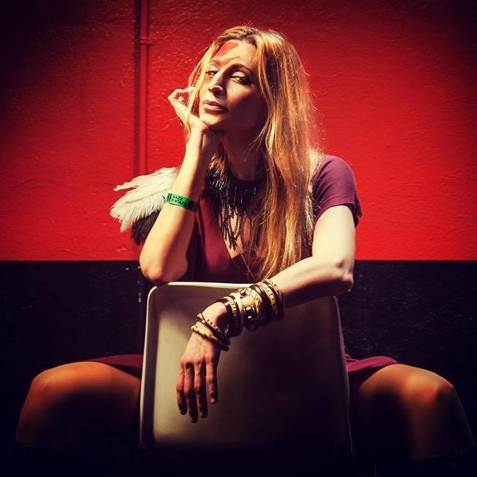 Tori Sparks Backstage Razzmatazz Photo: Desi Estevez