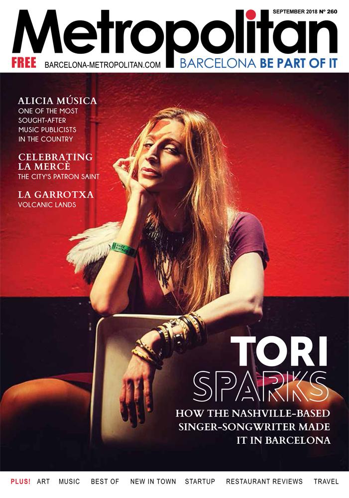 Tori Sparks revista Metropolitan portada septiembre 2017