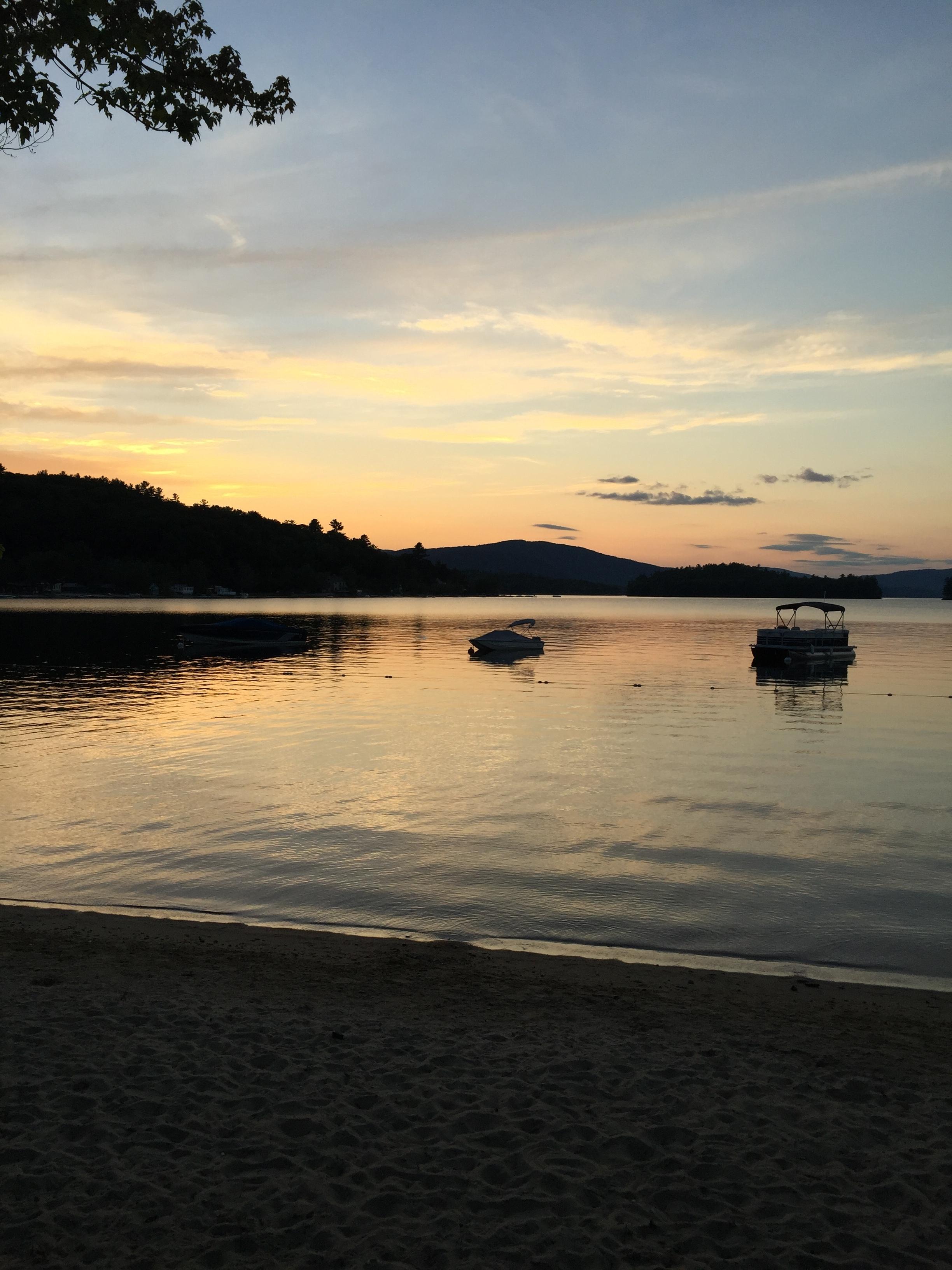 Newfound Lake at sunset