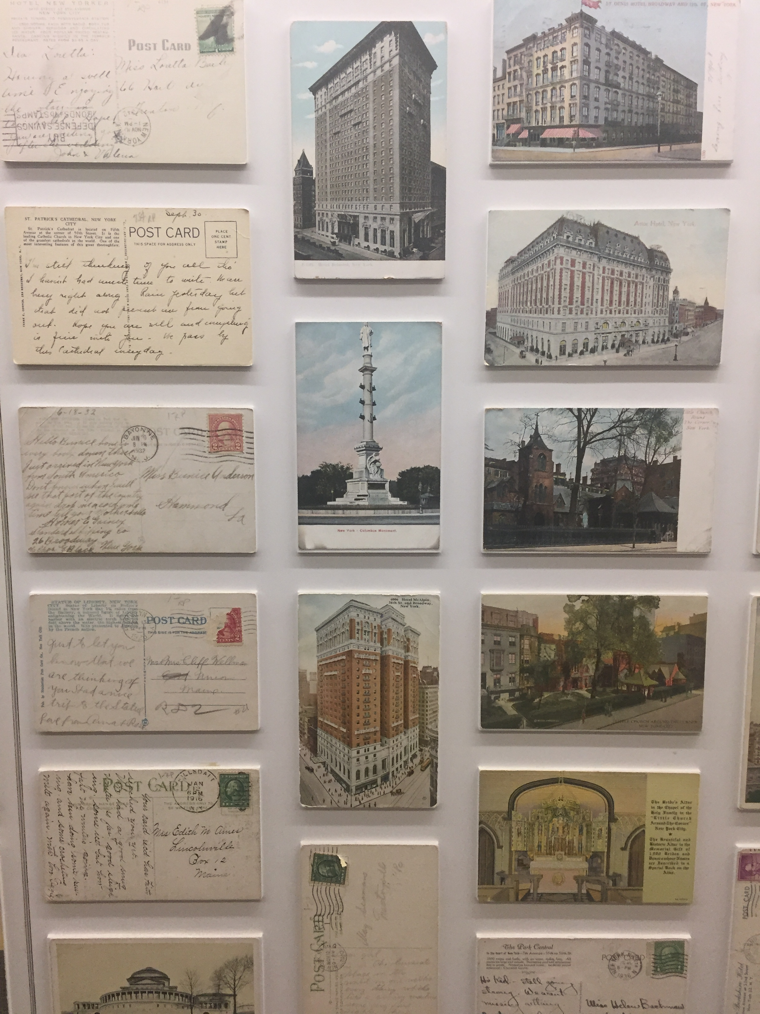 I have a thing for vintage postcards. These were on a wall at Google.