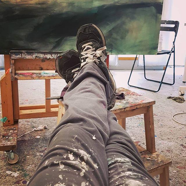 Finally I am back!!!! I was missing sooo much the smell of painting !!! #studio #London #colours #composition #values #tones  #marinagonzalezart #expression #comunication #monday #evening #canvas #Sevilla #arte #pinturaabstracta #figurativeart #pinturafigurativa #nuevacoleccion # artwork #artist #artistaespañola #yo