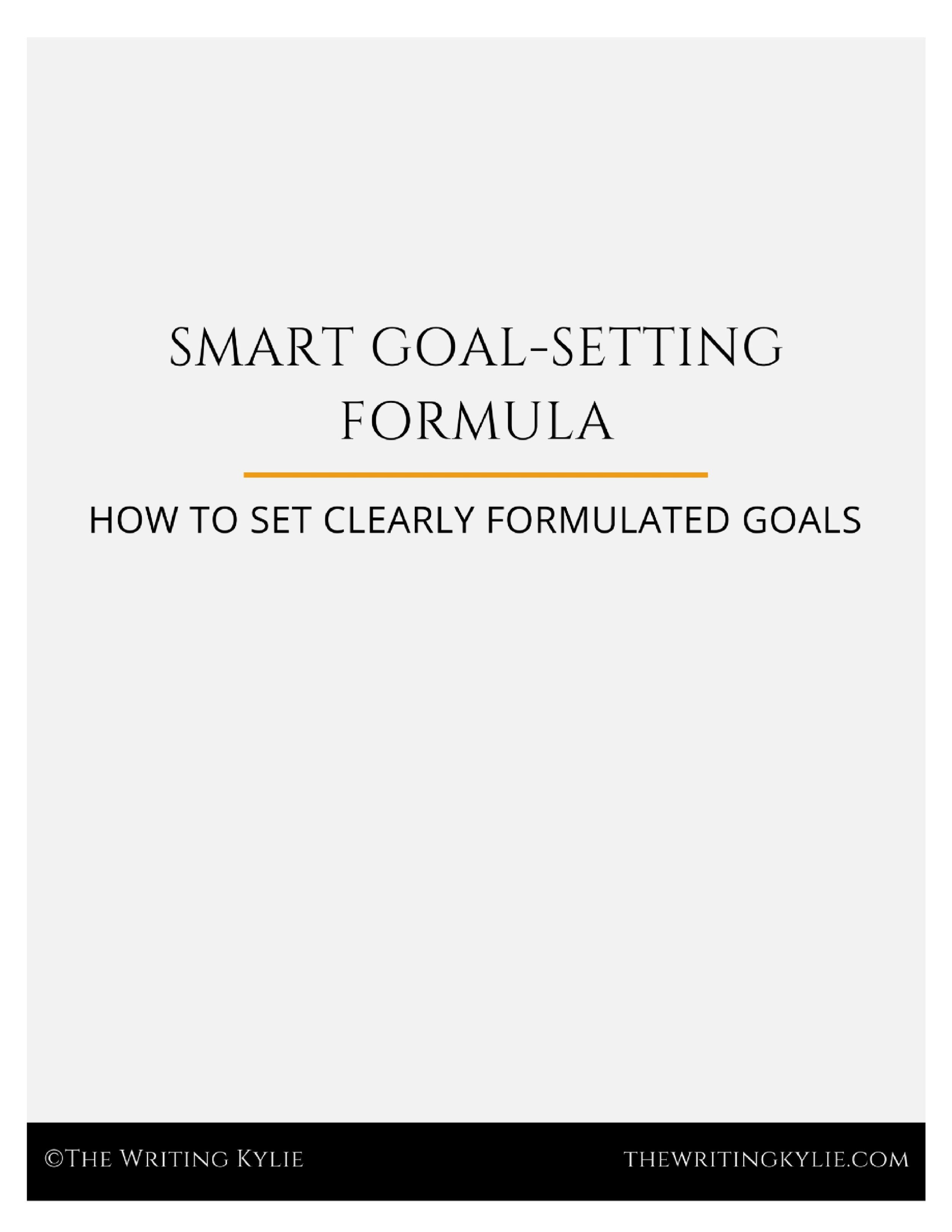 Download the  FREE  SMART Goal Setting Formula template!
