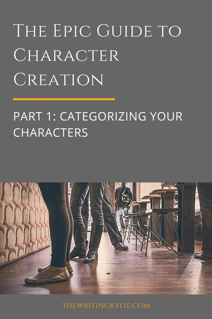 The Epic Guide to Character Creation, Part 1: Categorizing Your Characters