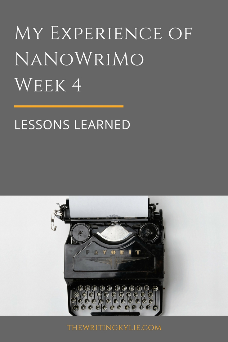 NaNoWriMo Week 4: Lessons Learned