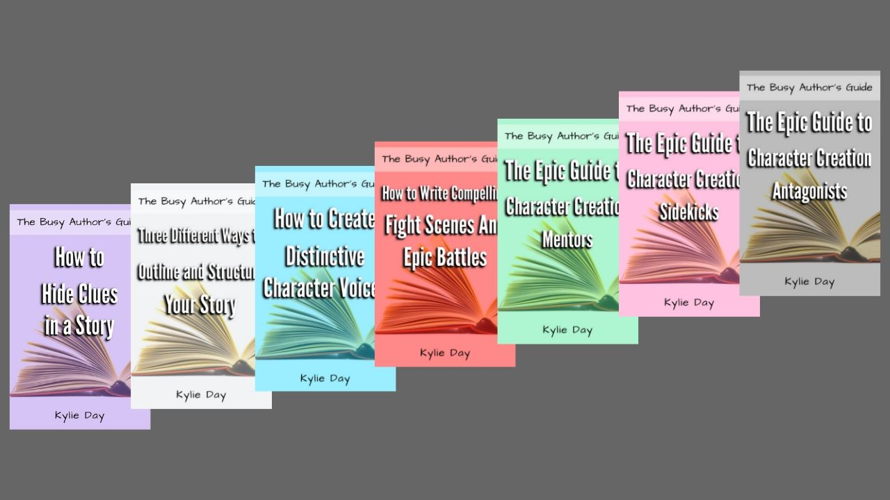 The Busy Author's Guide  is a series of short ebooks meant for all kinds of writers who don't have time to wade through yet another full-length book when they should be writing. This series will provide you with bite-sized help, inspiration, tips, and creative exercises because small steps are easier to tackle than giant leaps. thewritingkylie.com