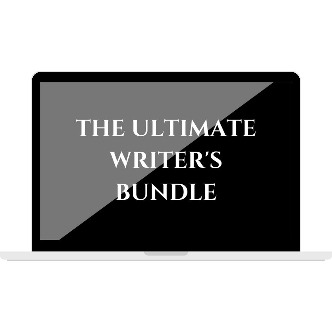 The Ultimate Writer's Bundle  is packed with content for writers who want to set goals for their writing and then execute on those goals with the help of the other resources in the bundle. This bundle includes 13 ebooks, 2 workbooks, 2 courses/workshops, a Scrivener + Word writing template, and the  90-Day Launch Plan Template  that's only available in this bundle.