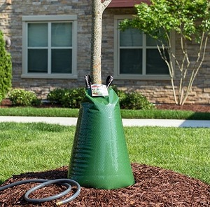Prevents water loss due to run-off or evaporation.