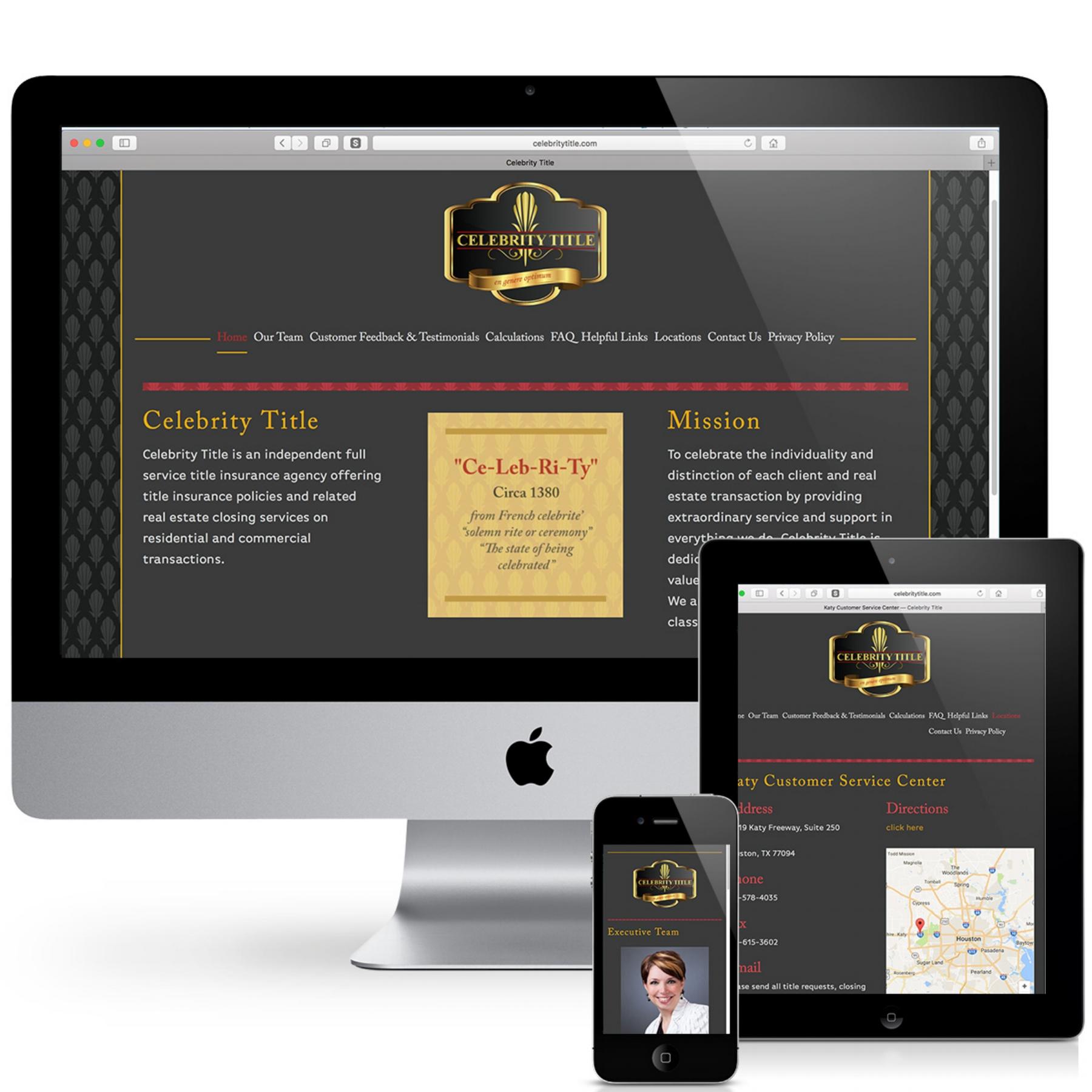 Celebrity Title  Completed work- Website