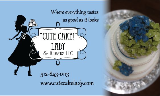 """Cute Cake!"" Lady- Knox Financial Services  Completed work- logo, business card, note cards. trifolds, car decals, banner for trade show…"