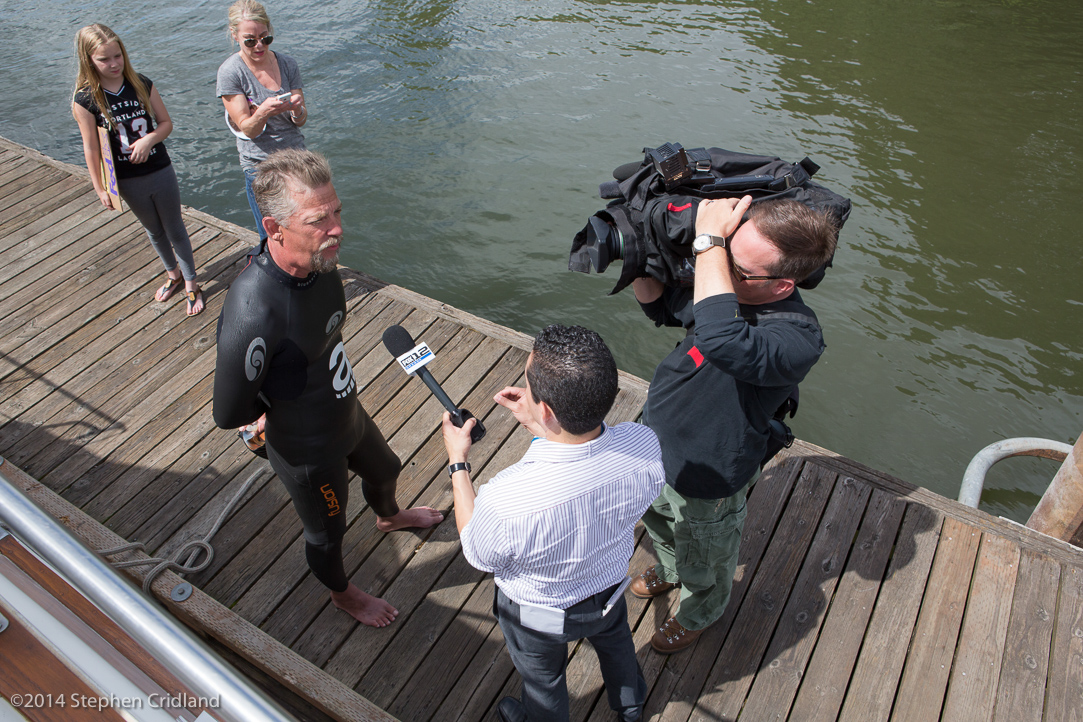 Watch KPTV 12 news story about Dean's successful completion of swim  (click on picture)