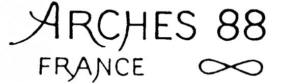 Arches 88 paper for Silkscreen