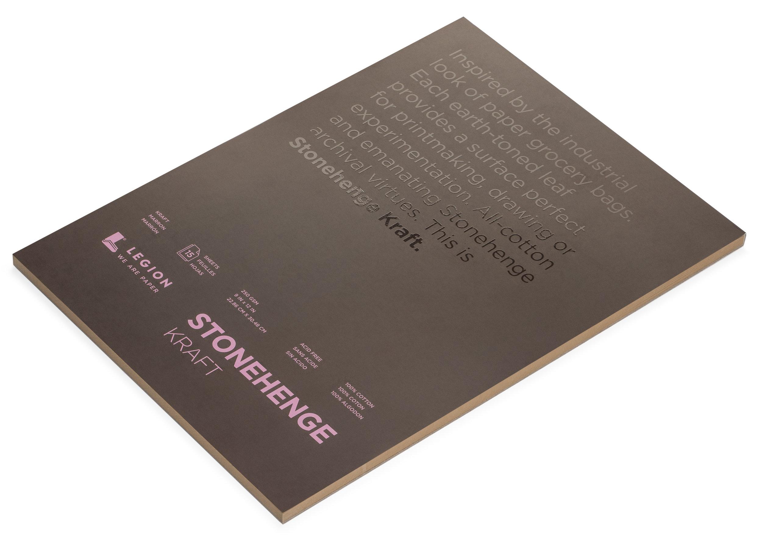 Stonehenge Kraft Artist Paper Pad for Drawing Charcoal Pastel