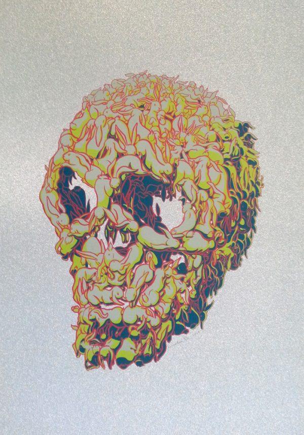 Kozyndan Bunny Skull on Mirri Sparkle Silver