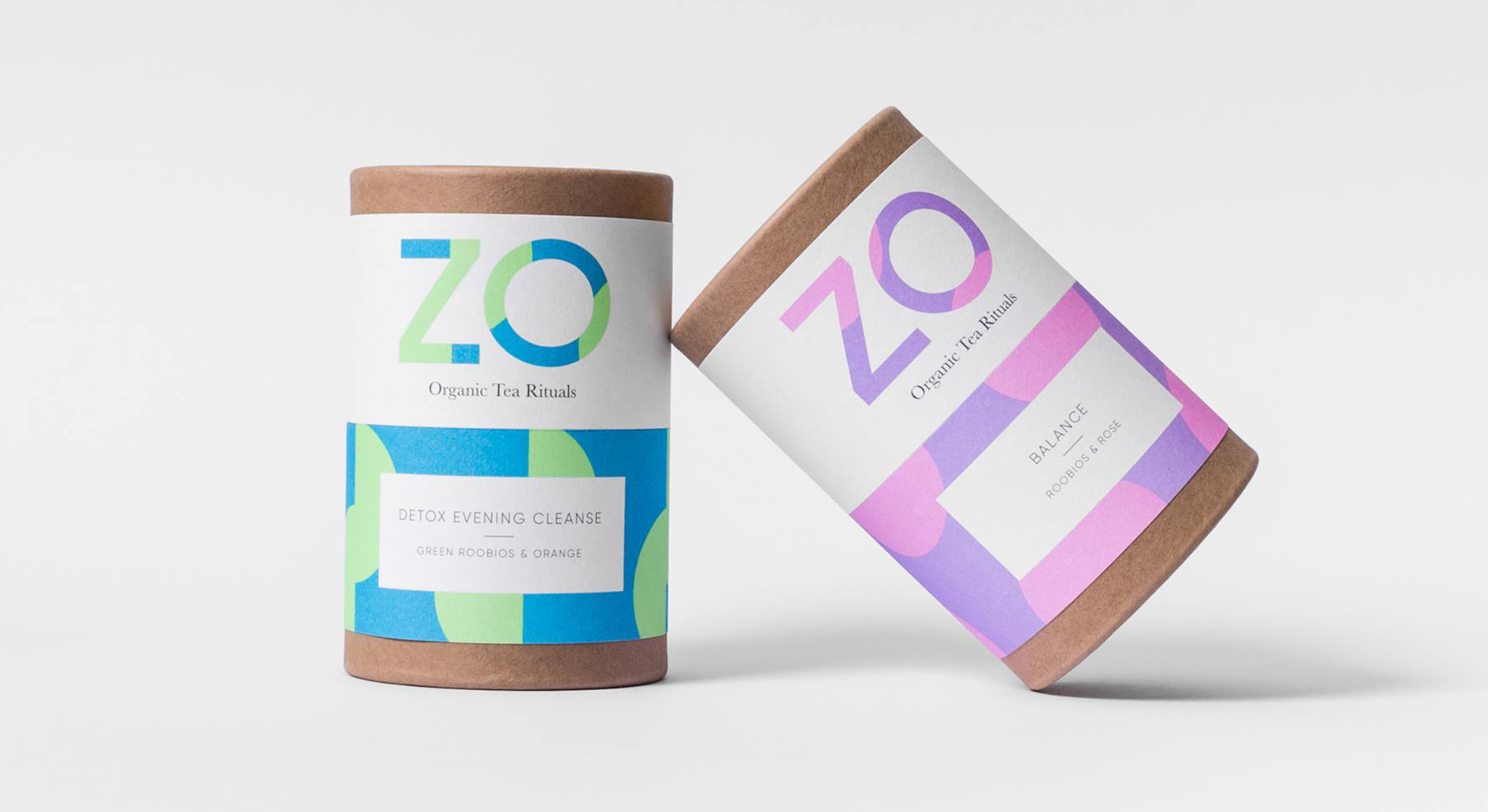 ZO Tea's Colorplan Labels designed by Analogue