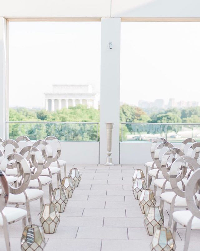 Ceremony View Goals or Nah? . . . Photo: @luck_love_photography  Venue: @usipeace  Rentals: @tablemannersdc  Decor: @duranfloraldesignllc