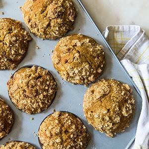 Pumpkin Spiced Latte Muffinsfeatured in Hannaford Fresh Magazine -
