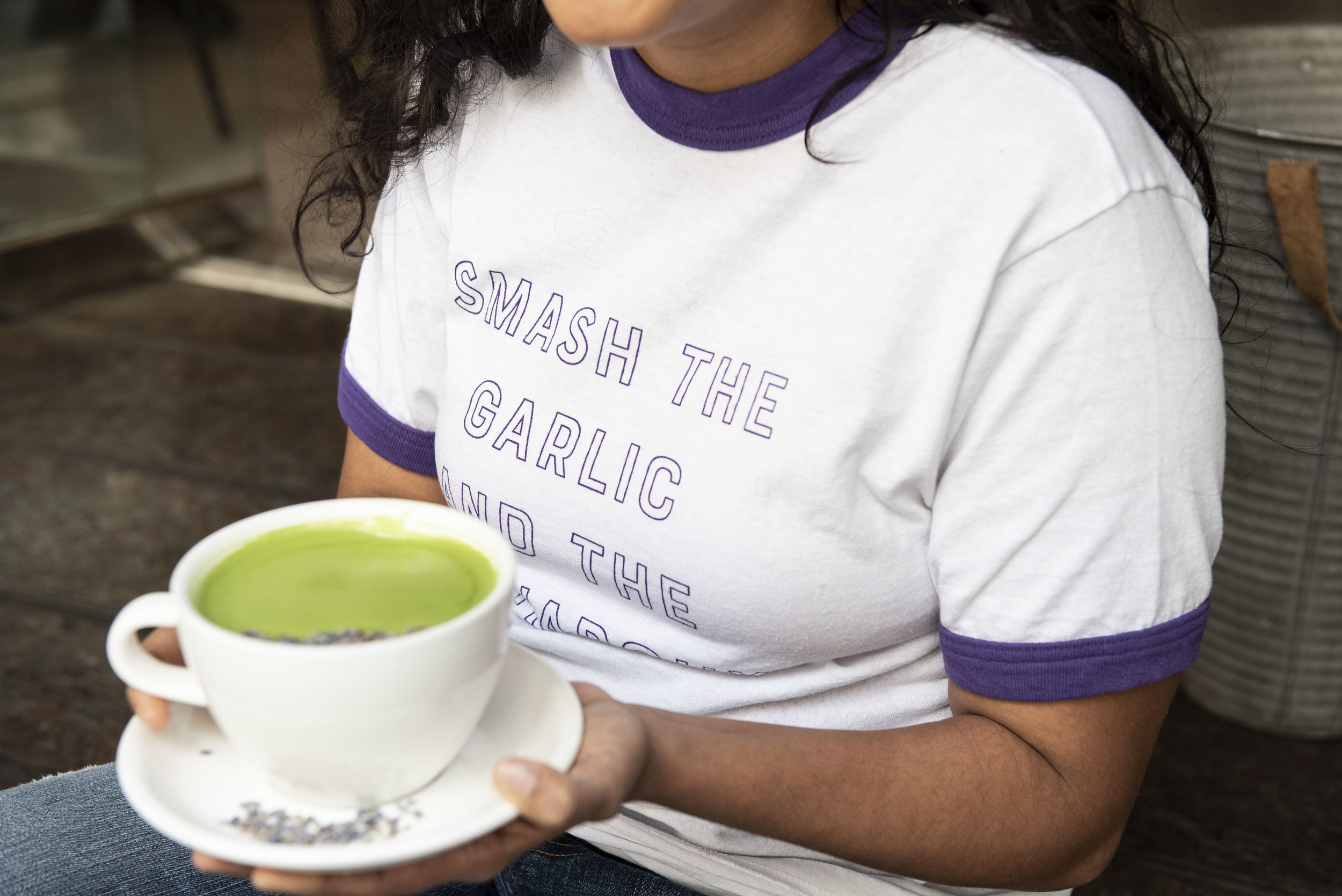 Deepti Sharma, photographed by Liz Clayman at Blank Slate cafe in Manhattan