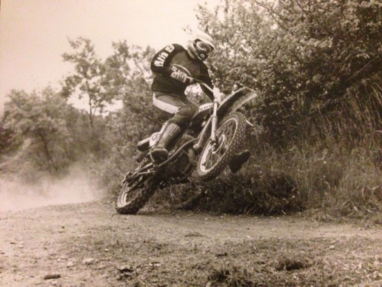 When Piero was young. Wish we had photos like that of ourselves. Gotta work on the wheelie.