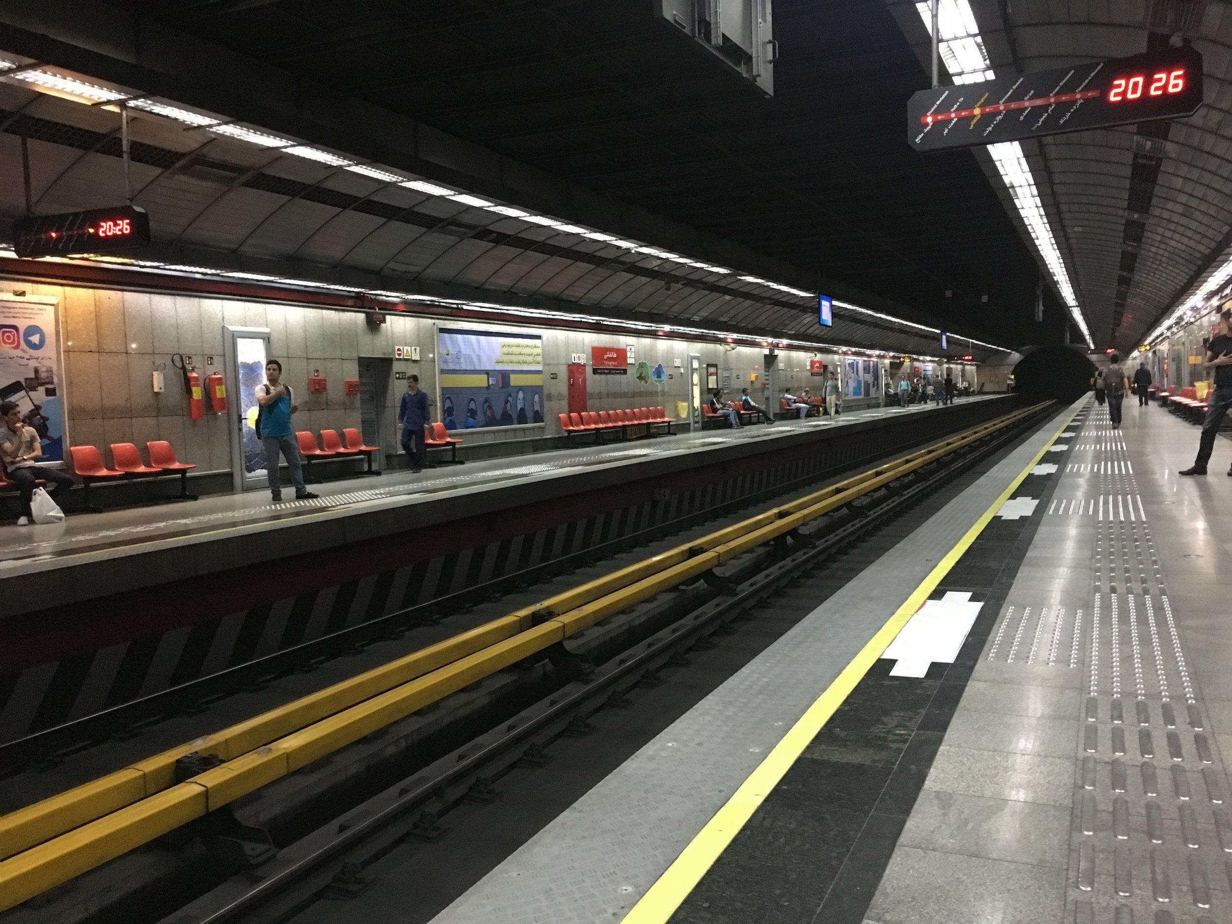 First subway ride since Berlin.