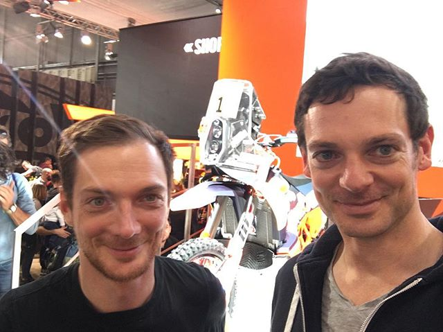 Checking out all the new bikes at #EICMA in Milano. KTM 450 Rally, KTM 790 Adventure R Prototype and Yamaha Ténéré 700 World Raid Prototype look very promising. 2018 will be a very interesting year!  #eicma2017 #torquetostrangers  #advlife #enduro #mototravel #KTM #readytorace