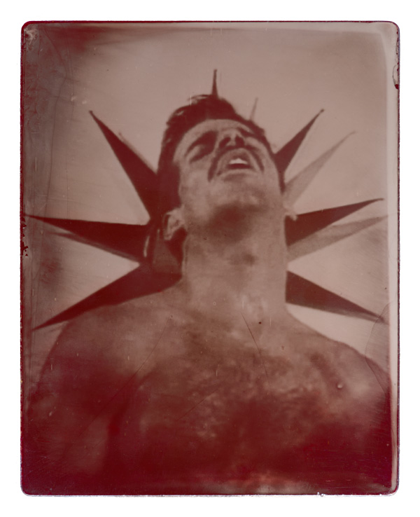 Eric Stone. Died December 24, 1996. Age 37. Film still from 'Driven: No Turning Back' (1996). Ambrotype. 7 1/2 x 6 in. Printed 2016.