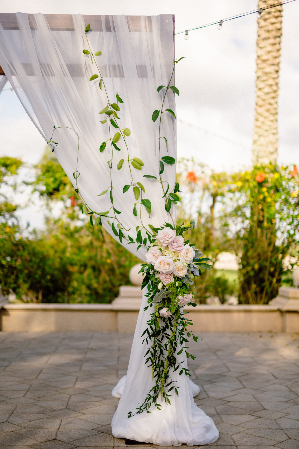 White Cream Pink Wedding Ceremony Naples Florida Floral Symphony Matt Steeves.jpg