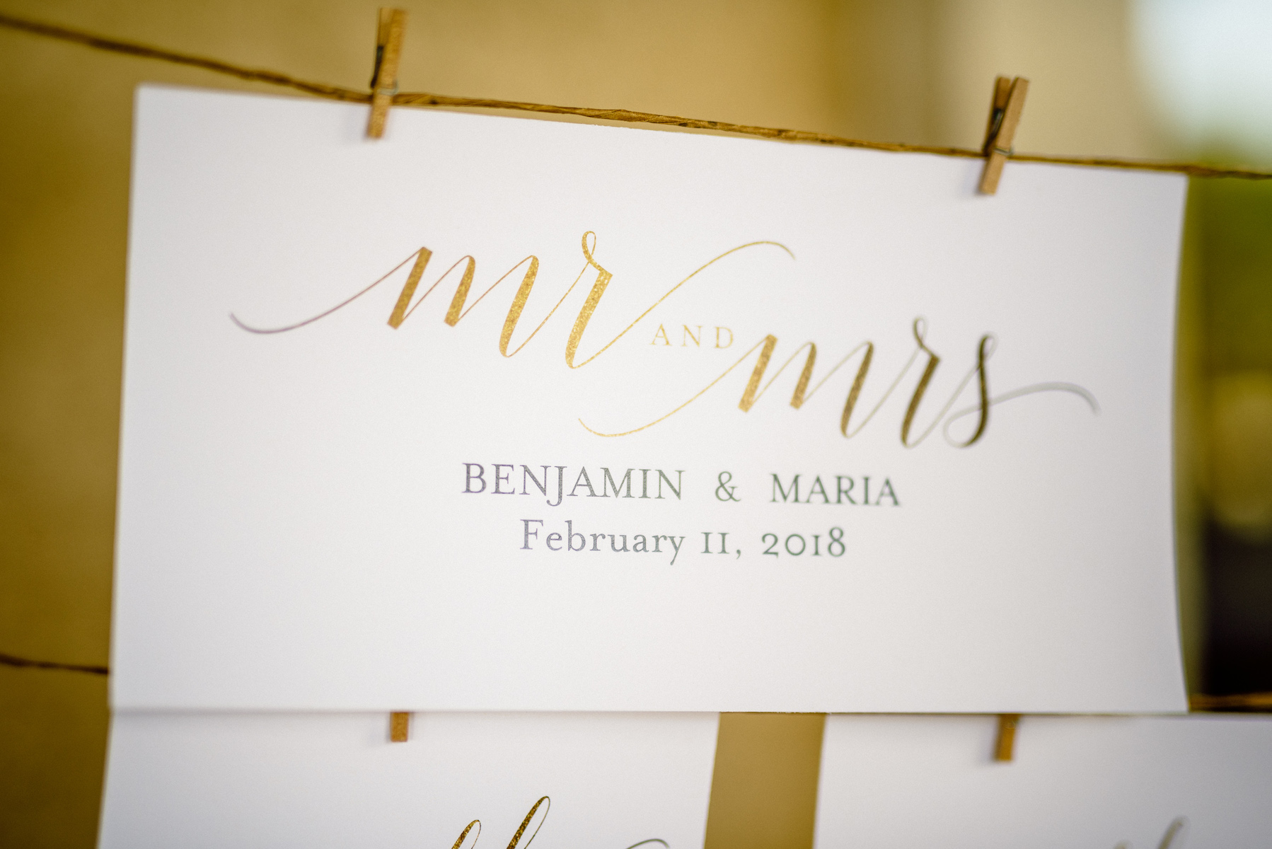 Wedding Reception Escort Card Display Naples Matt Steeves Photography.jpg