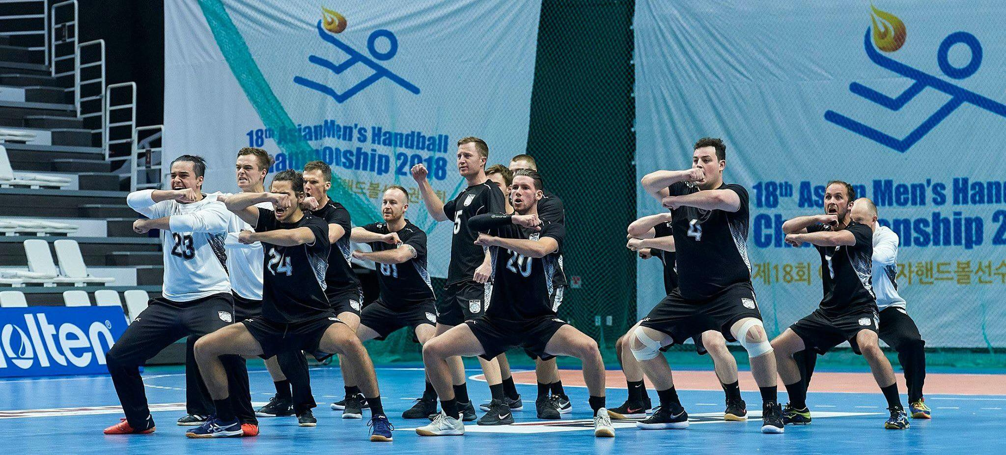Mens Team perform the Haka at Asian Champs 2018 South Korea.jpg