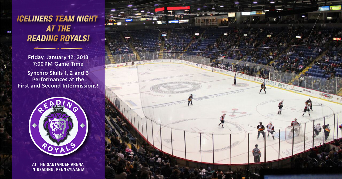 IceLiners Team Night at the Reading Royals Hockey Game!