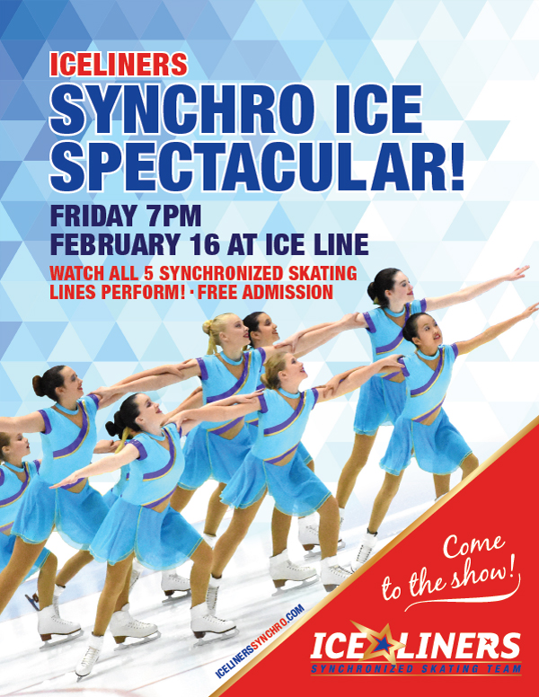 IceLiners Synchronized Skating Team proudly presents their Synchro Ice Spectacular on February 16, 2018