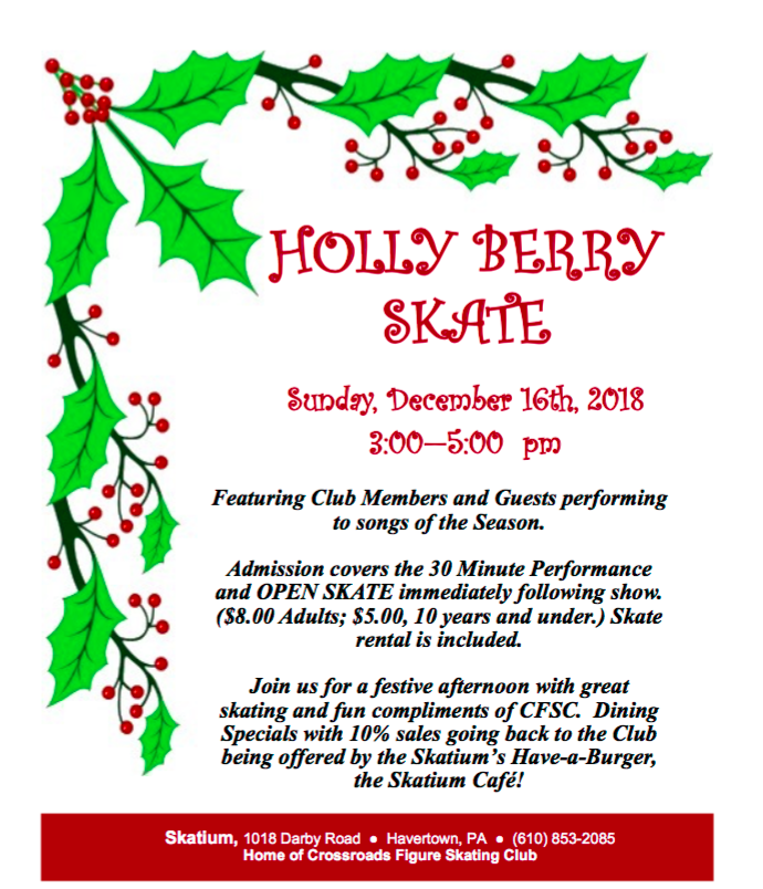 Holly Berry Skate at Crossroads Figure Skating Club