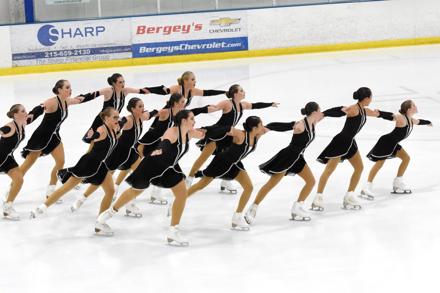 The Open Juvenile line of the IceLiners Synchronized Skating Team won First Place at the 2018 Philadelphia Synchro Invitational.