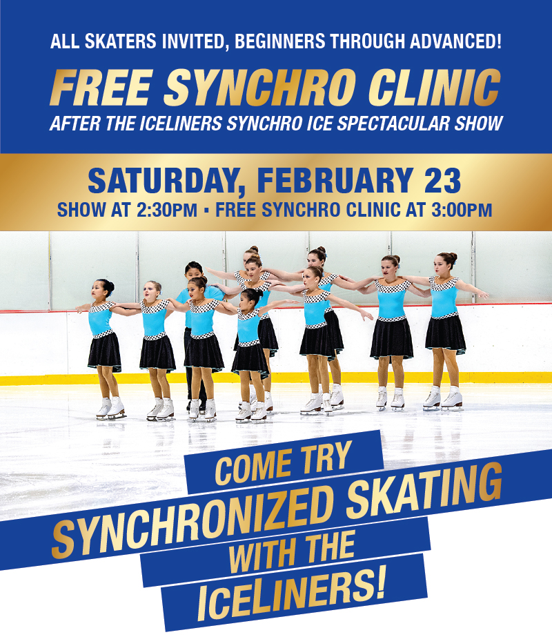 Come try Synchronized Skating with the IceLiners!