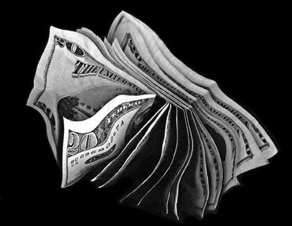 twenty dollar bills