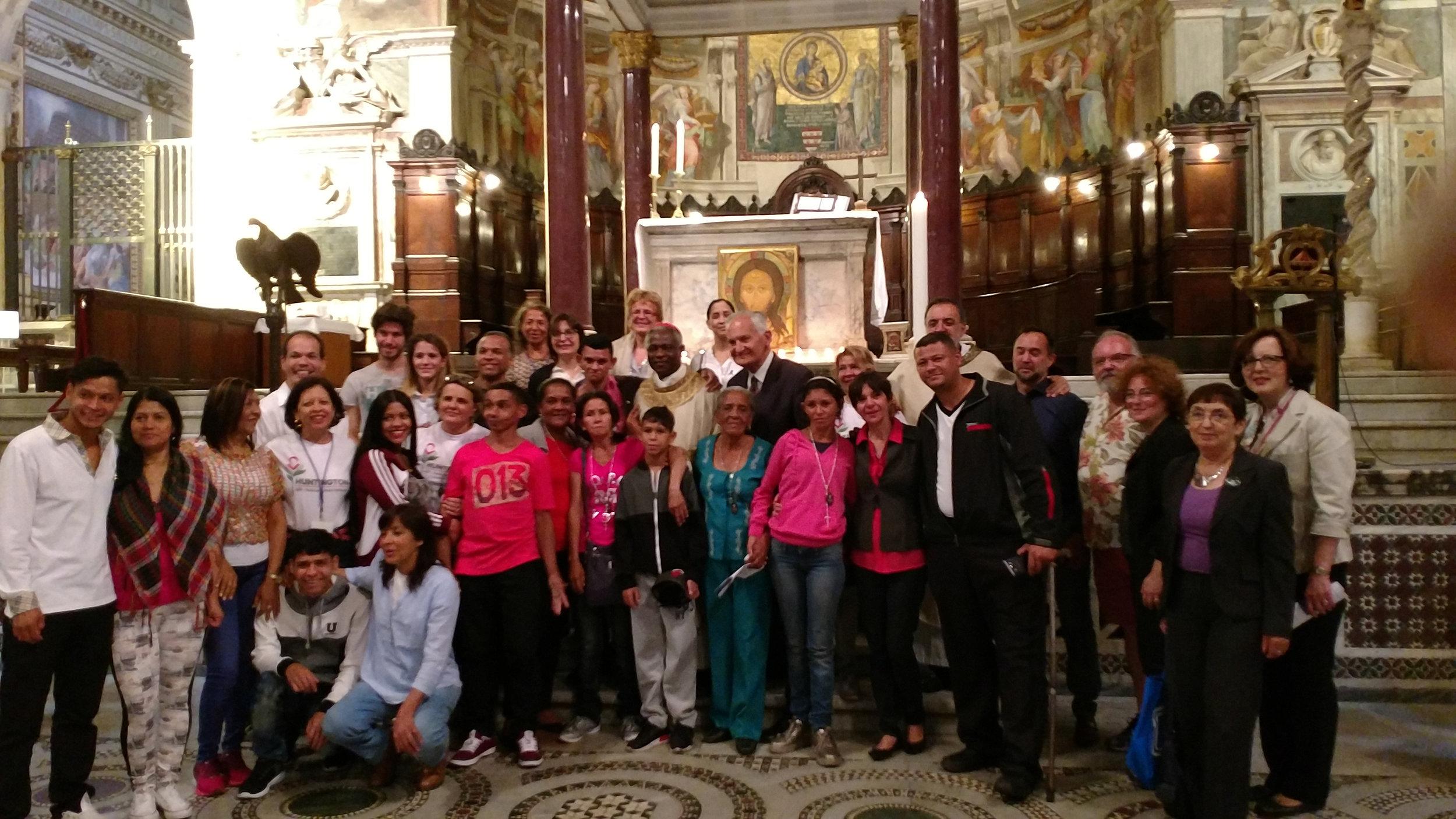 Mass at Basilica di Santa Maria in Trastevere