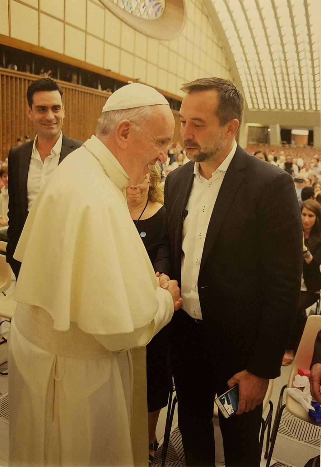 Nacho with Pope Francis