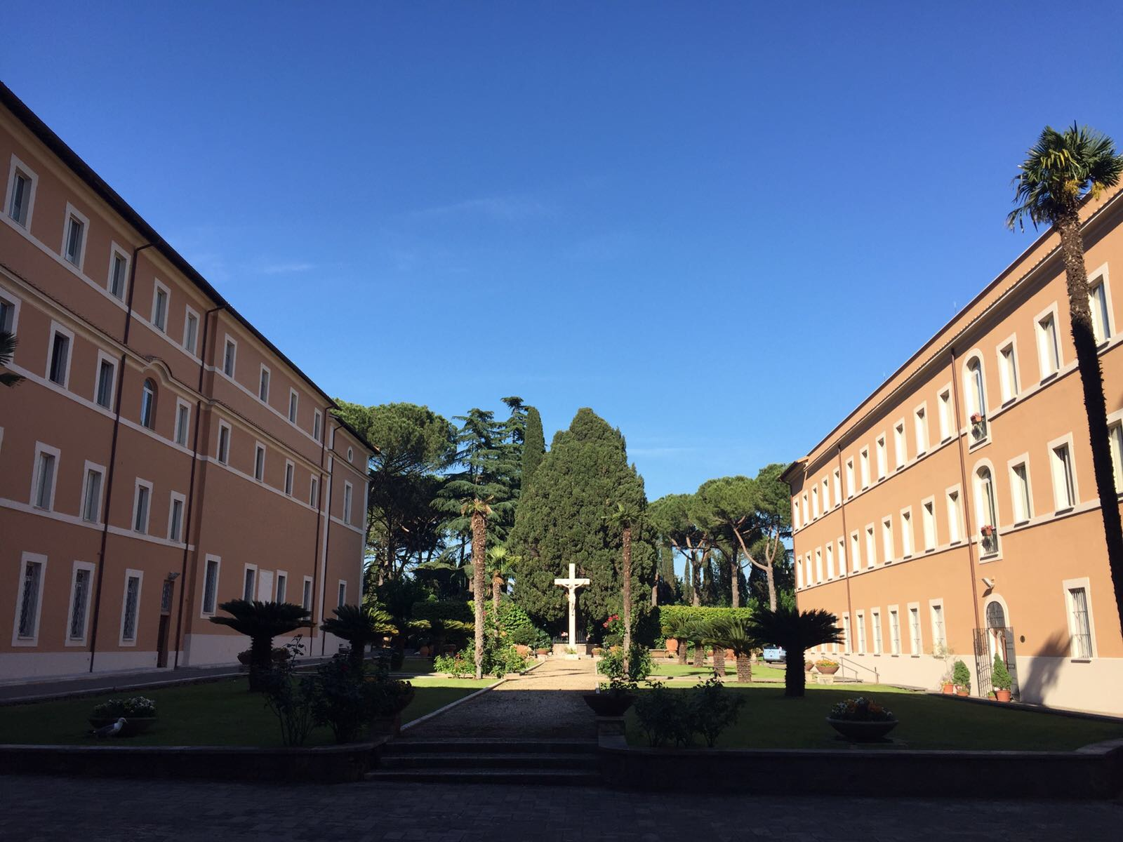 The Passionisti convent, our home in Rome