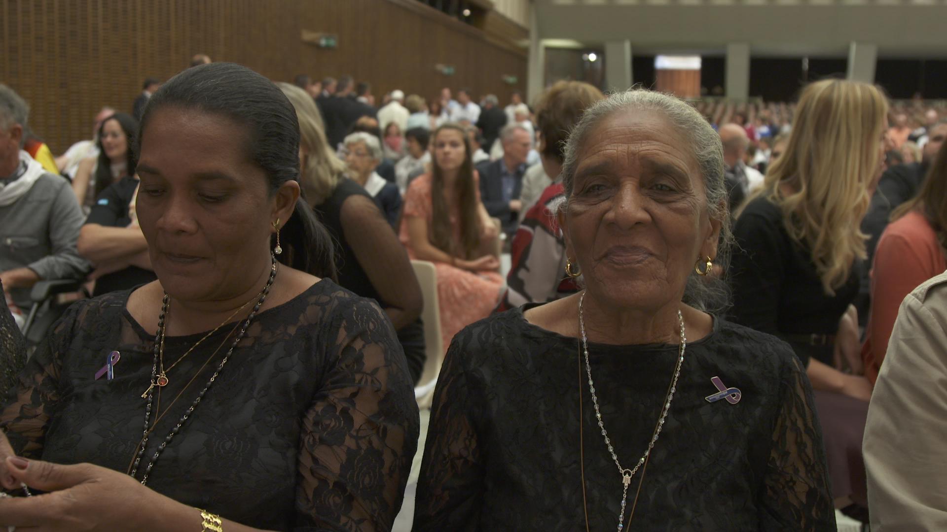 Dilia and Maribel looking beautiful at the Vatican