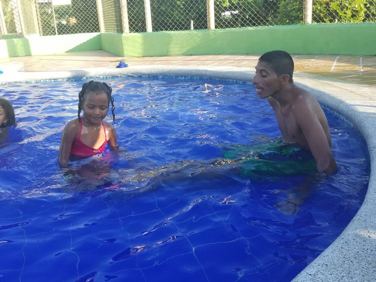 Manuel, a JHD patient, enjoyed the water!