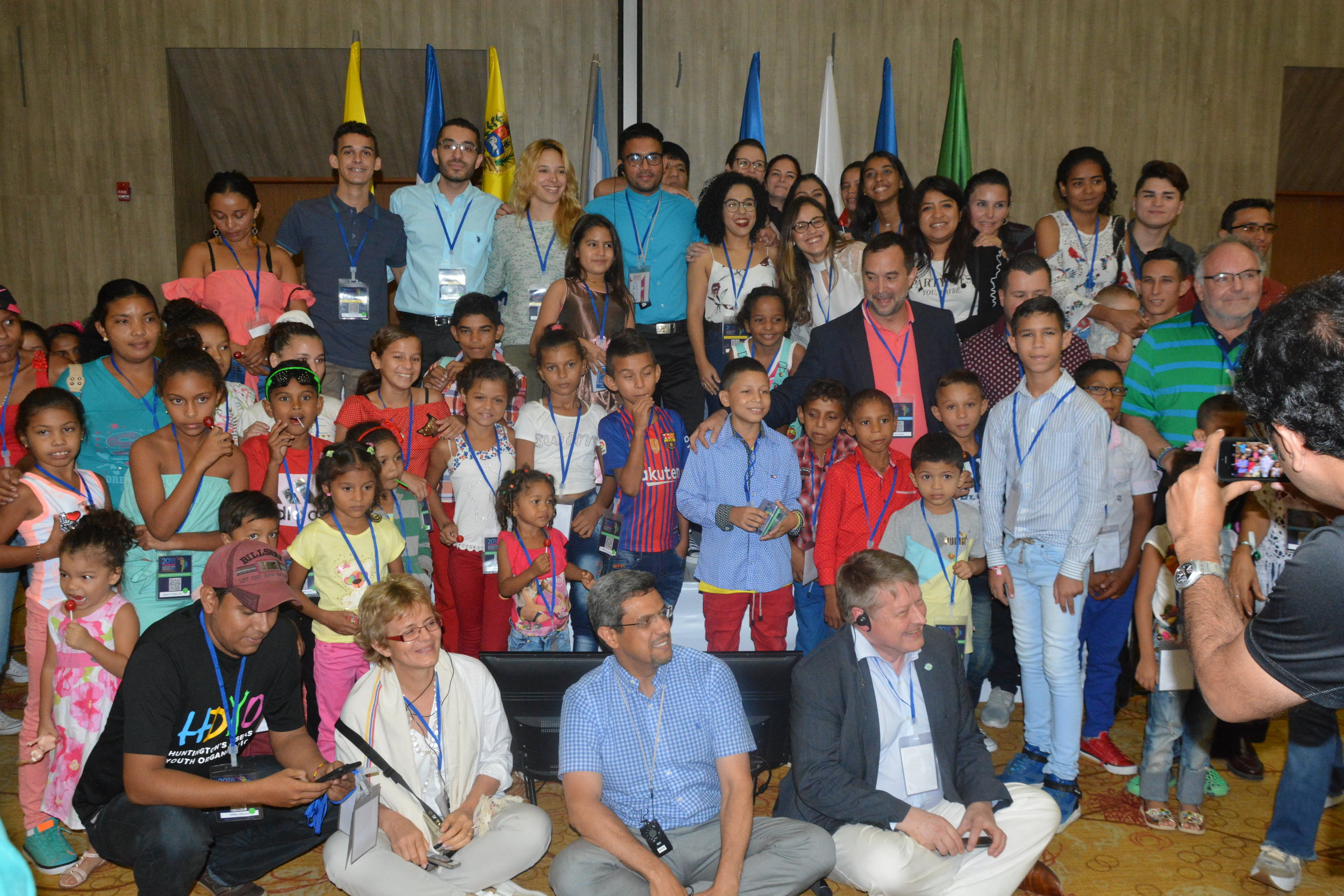 The moment when the kids of Project Abrazos met the scientists and clinicians