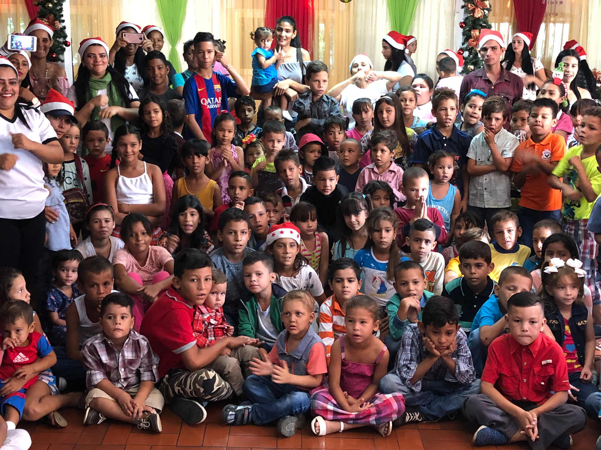 Christmas party in San Luis, Maracaibo