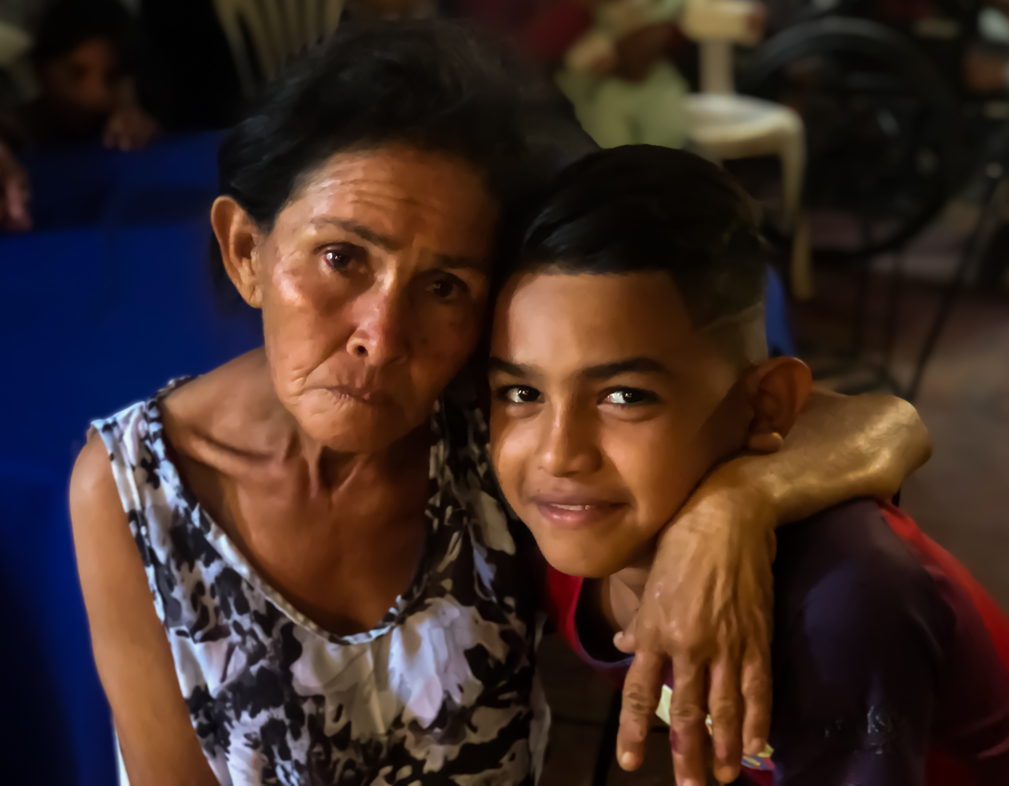 Maria Esther Soto and her son - he is sponsored by Project Abrazos