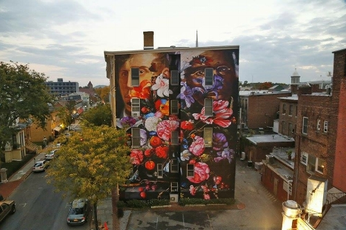 """Photo credit for Gaia's """"Pronkstilleven"""" mural image: Andy Milford"""