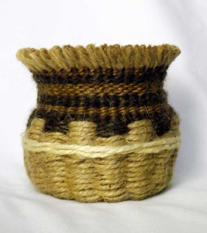 Twined basket taught at a recent Beginner Workshop.