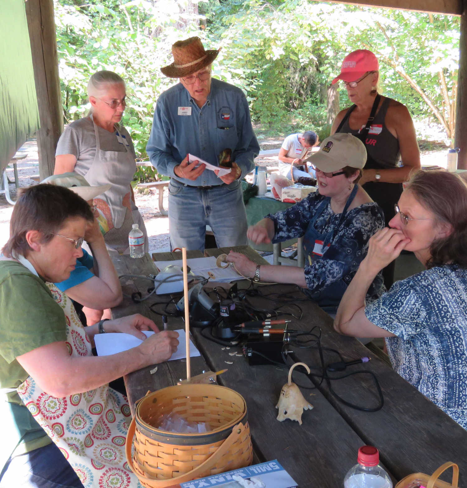 Gourd Class at Basket Day 2017. Photo by Diane Woods