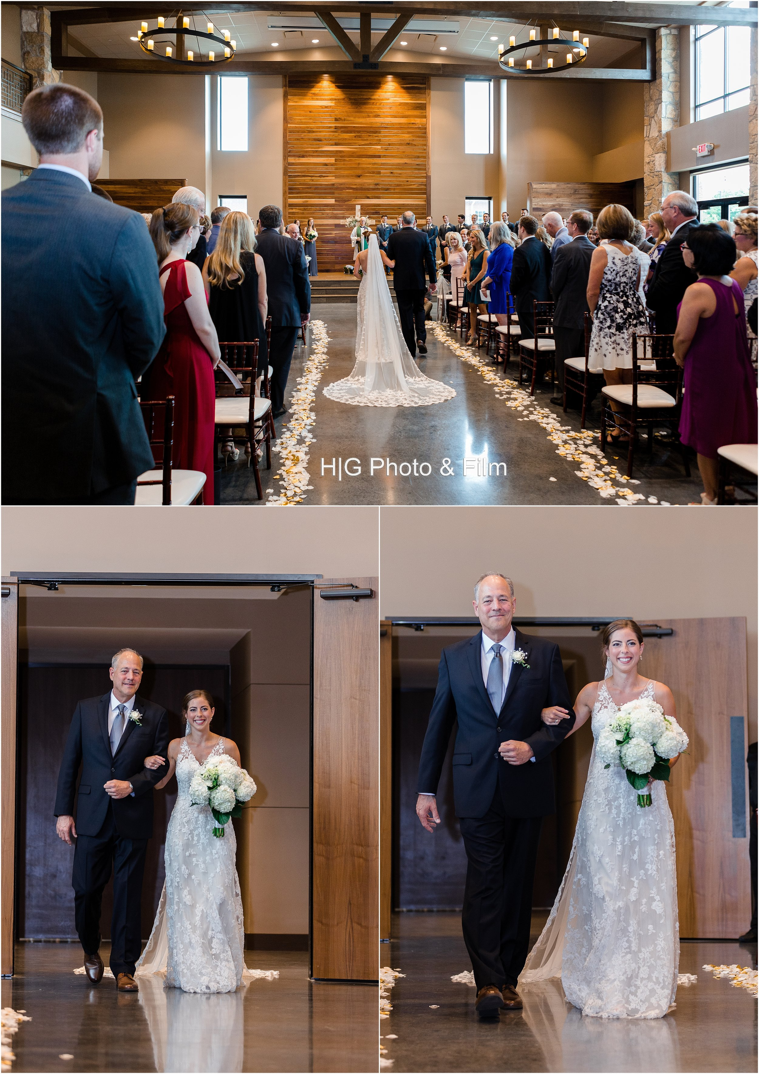 The beautiful bride and her father