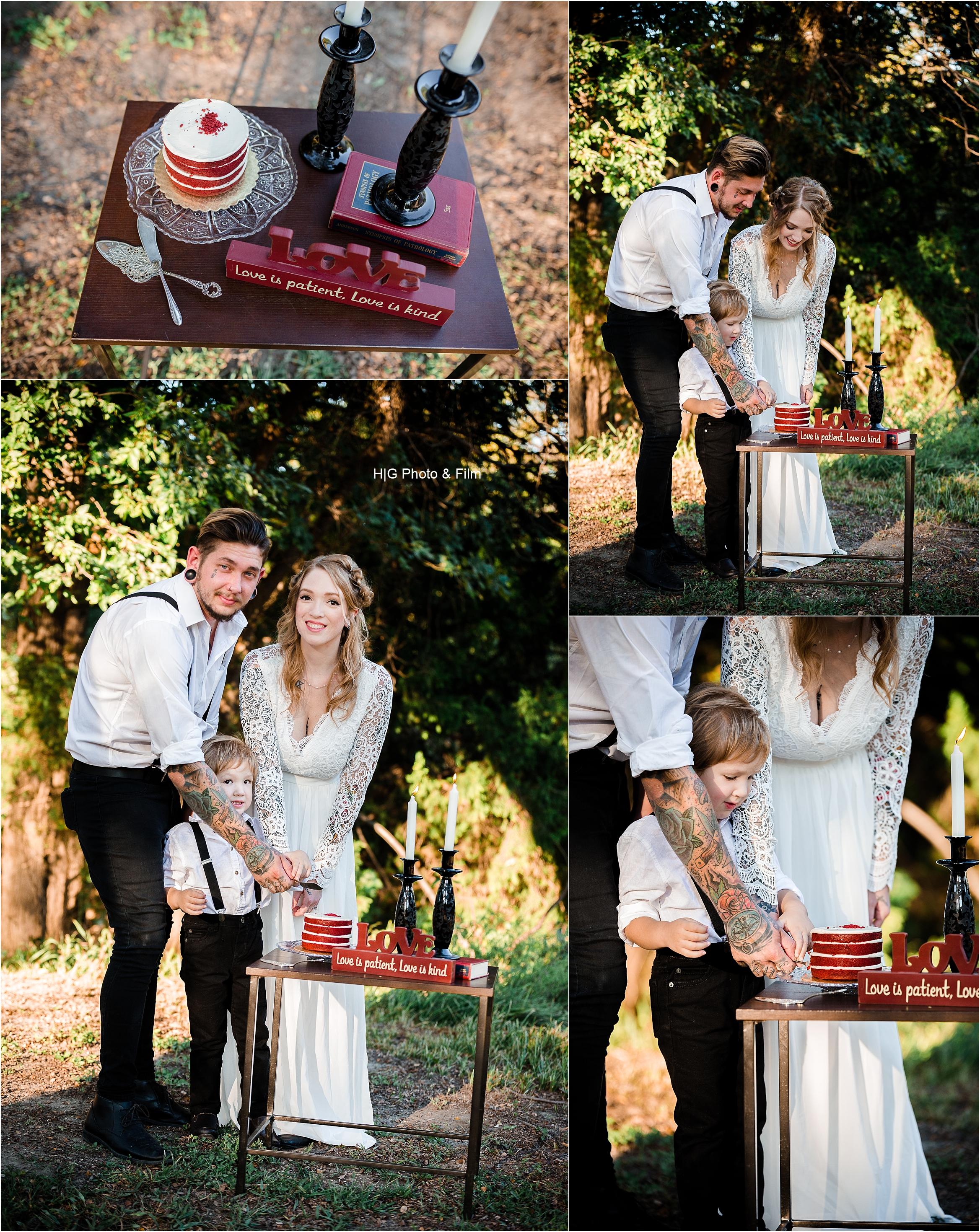 The yummy red velvet cake!